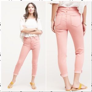 Free People High Rise Roller Skinny Pale Pink 29